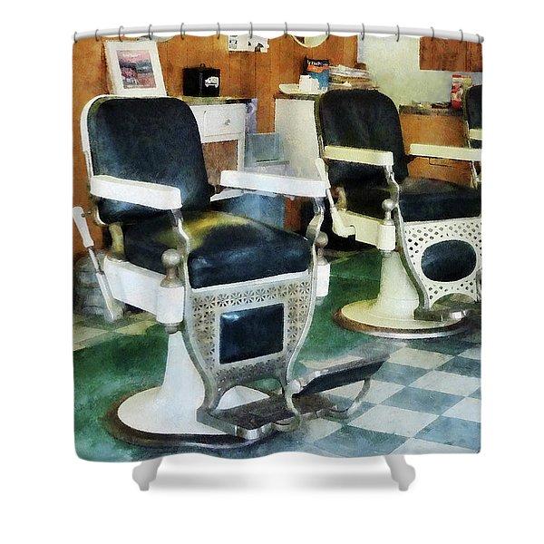 Barber - Corner Barber Shop Shower Curtain