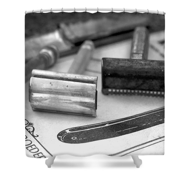 Barber Shop 20 Bw Shower Curtain