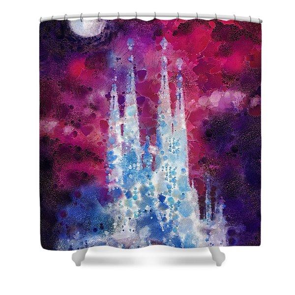 Barcelona Night Shower Curtain