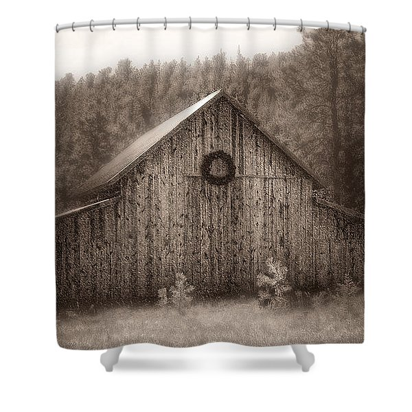 First Snow In November Shower Curtain