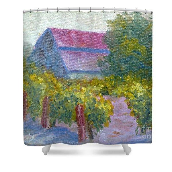 Barn In Vineyard Shower Curtain