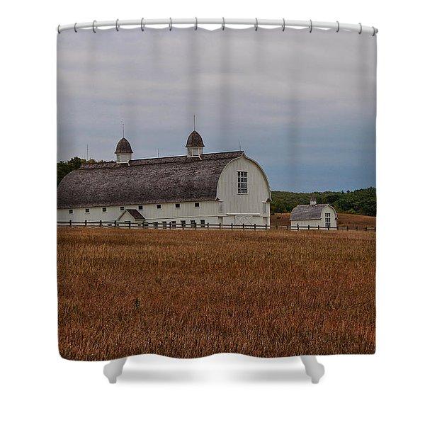 Barn On A Windy Day Shower Curtain