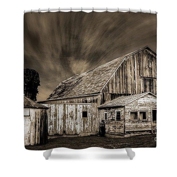 Barn On Hwy 66 Shower Curtain