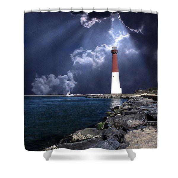 Barnegat Inlet Lighthouse Nj Shower Curtain