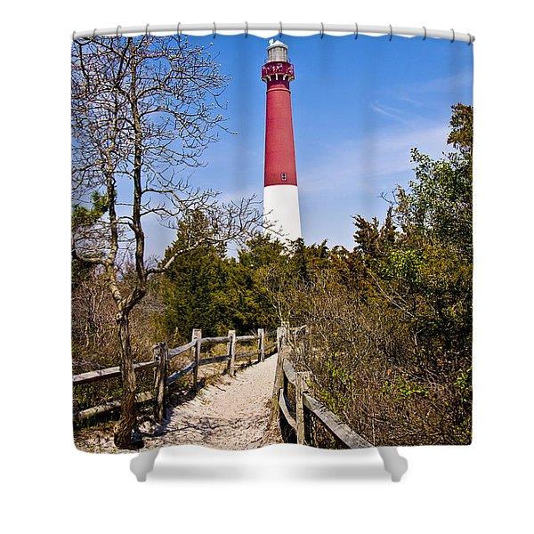Barnegat Lighthouse II Shower Curtain