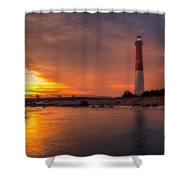 Barnegat Sunset Light Shower Curtain