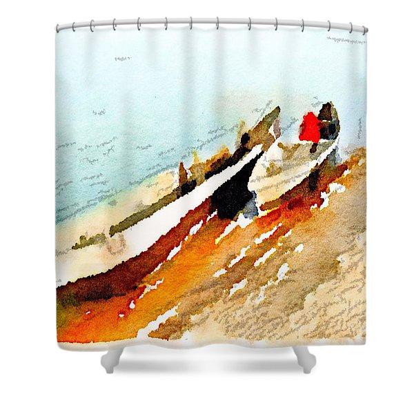 Barques Sur Le Chari Shower Curtain