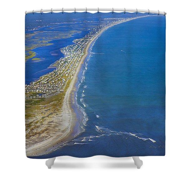 Barrier Island Aerial Shower Curtain