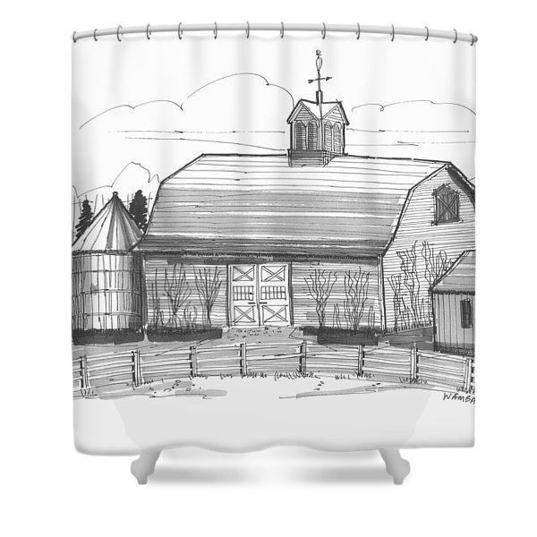 Barrytown Barn Shower Curtain