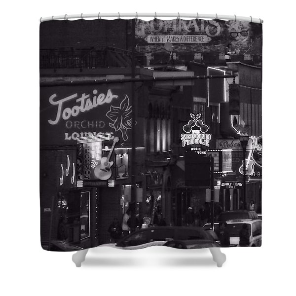 Bars On Broadway Nashville Shower Curtain
