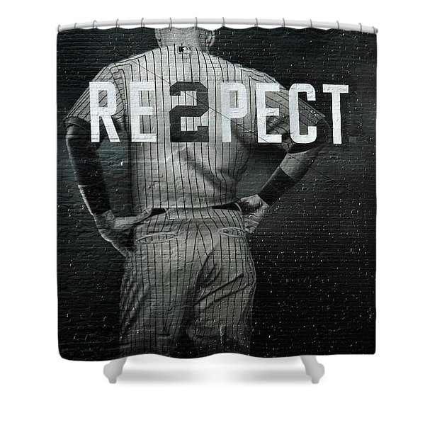 Baseball With Jeter Shower Curtain