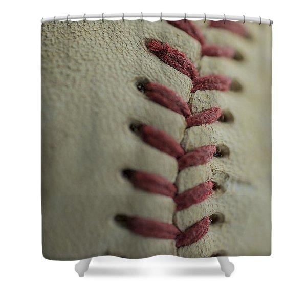 Baseball Macro Shower Curtain