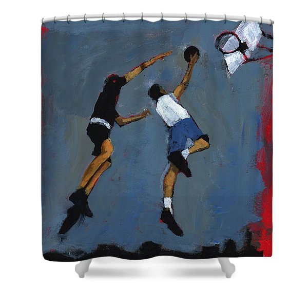 Basketball Players Shower Curtain