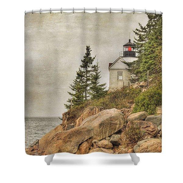 Bass Harbor Head Lighthouse. Acadia National Park Shower Curtain