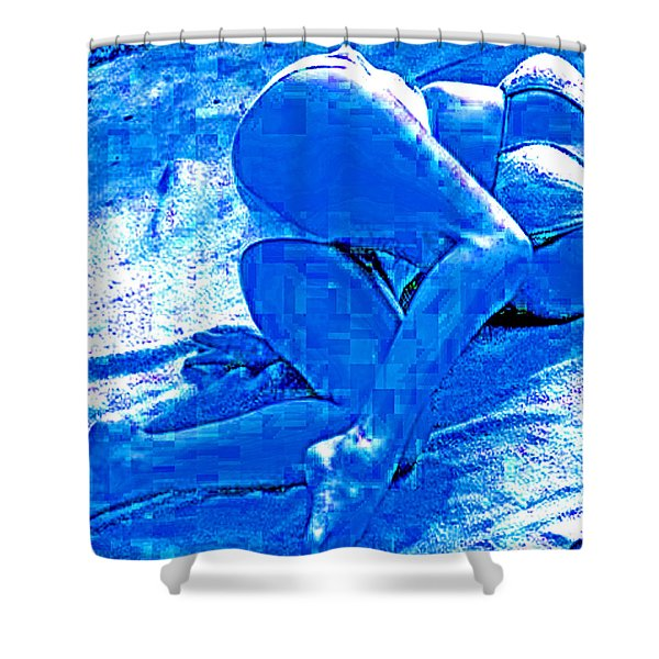 Bathing In Blu Light Shower Curtain