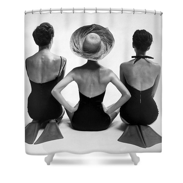 Bathing Suit Models Shower Curtain