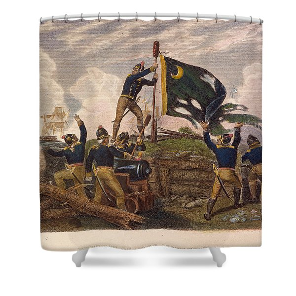 Battle Of Fort Moultrie Shower Curtain