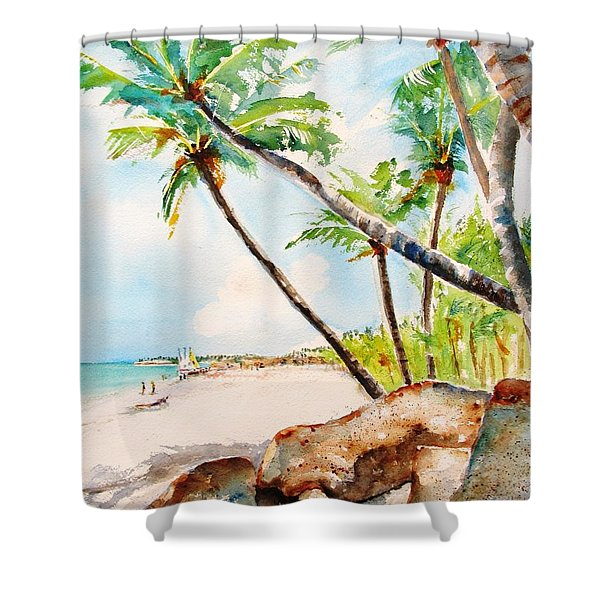 Bavaro Tropical Sandy Beach Shower Curtain