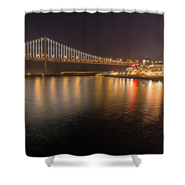 Bay Bridge Lights And City Shower Curtain