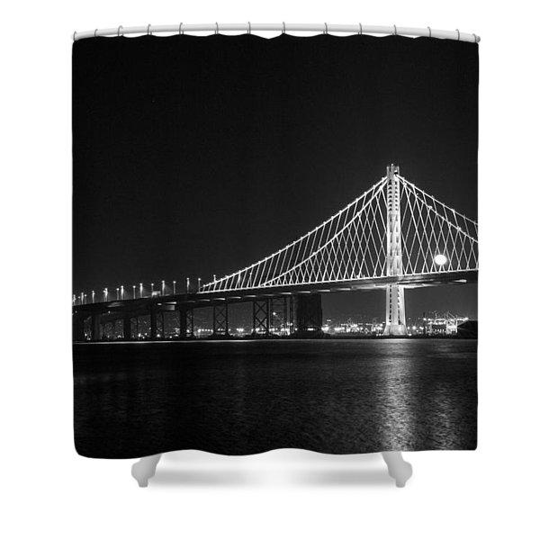 Bay Bridge Moon Shower Curtain