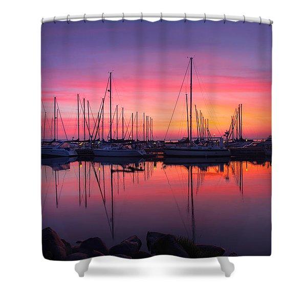 Bayfield Wisconsin Magical Morning Sunrise Shower Curtain