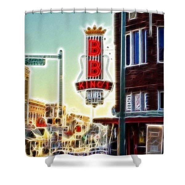 Bb King Club Shower Curtain