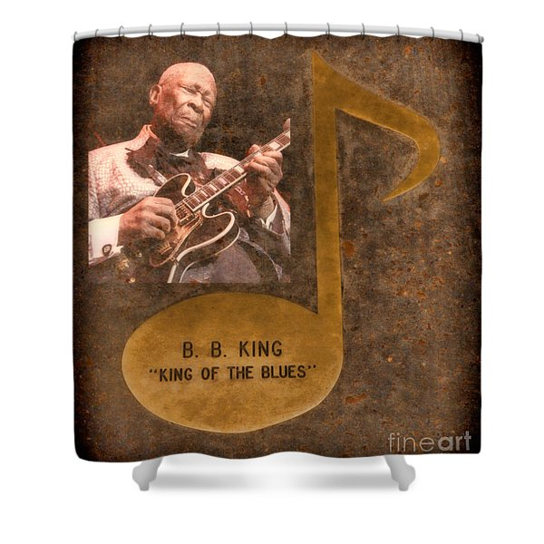 Bb King Note Shower Curtain