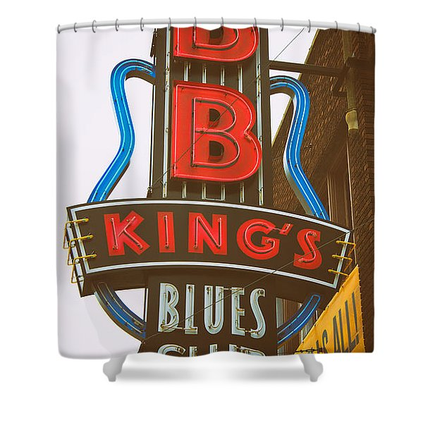 Bb King's Blues Club Shower Curtain