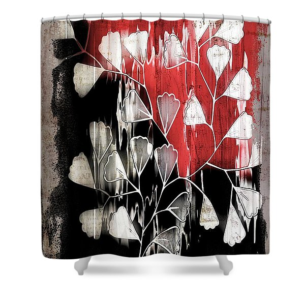 Be-leaf - Red Black A05bt3a Shower Curtain