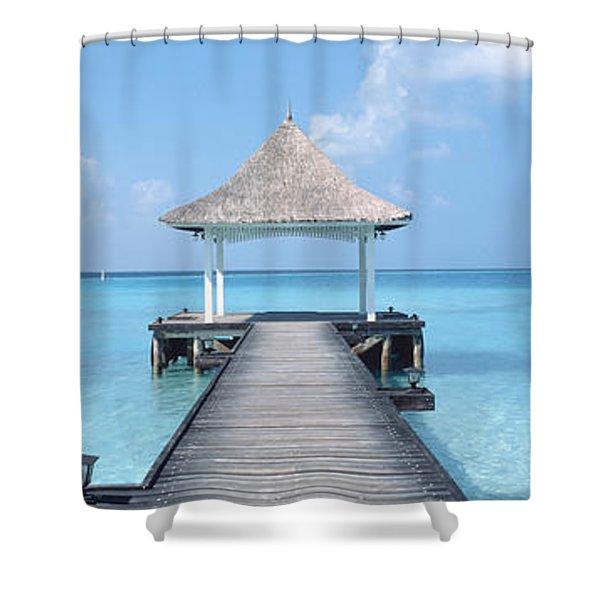 Beach & Pier The Maldives Shower Curtain