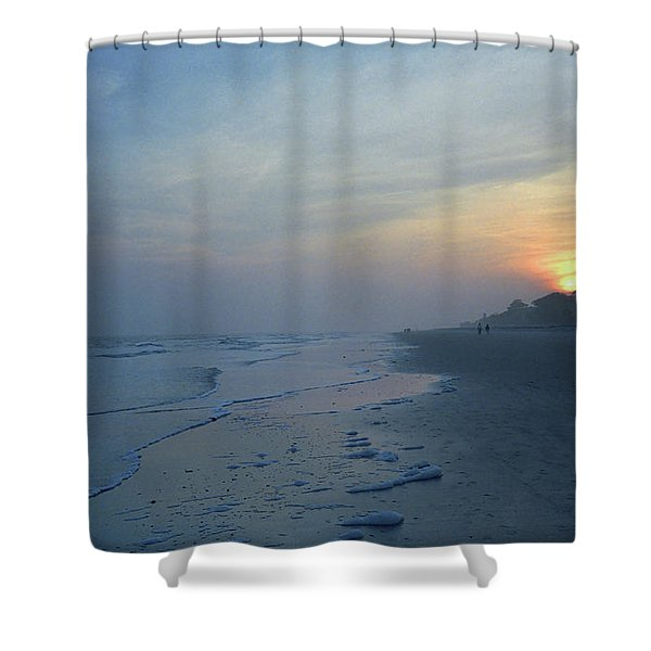 Beach And Sunset Shower Curtain