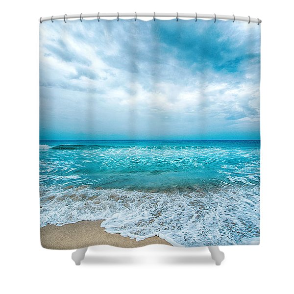 Beach And Waves Shower Curtain
