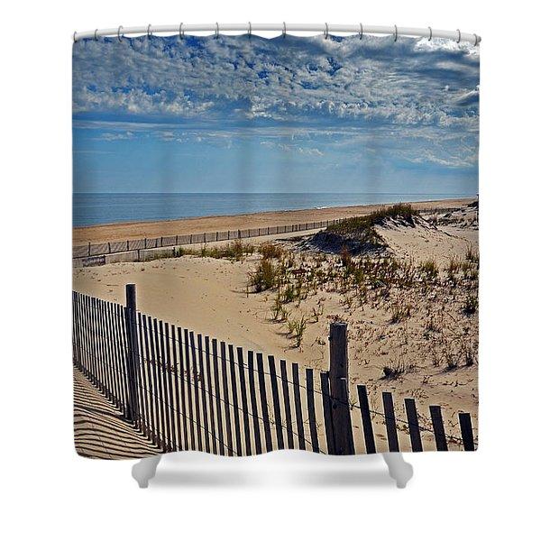 Beach At Cape Henlopen Shower Curtain