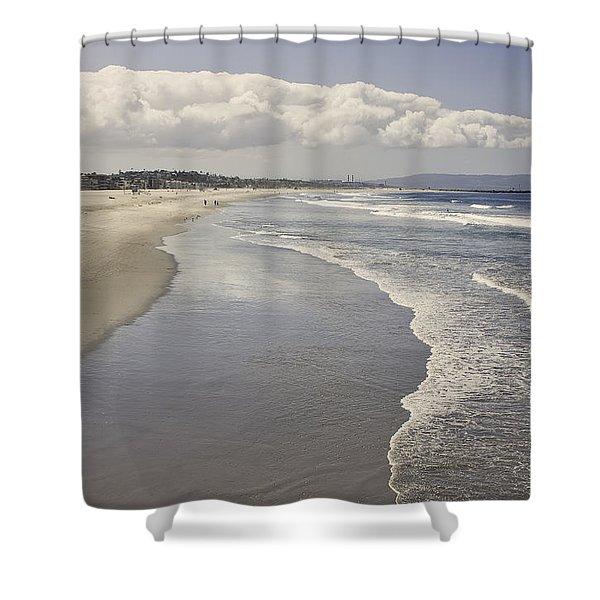 Beach At Santa Monica Shower Curtain