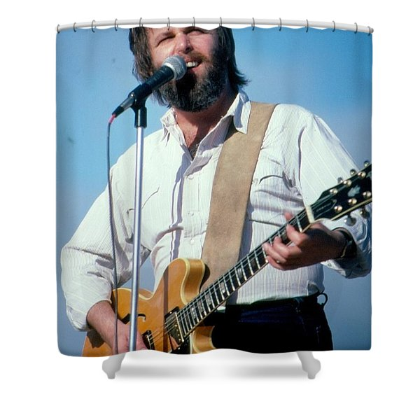 Beach Boy Carl Wilson Singing God Only Knows Live In Concert Shower Curtain