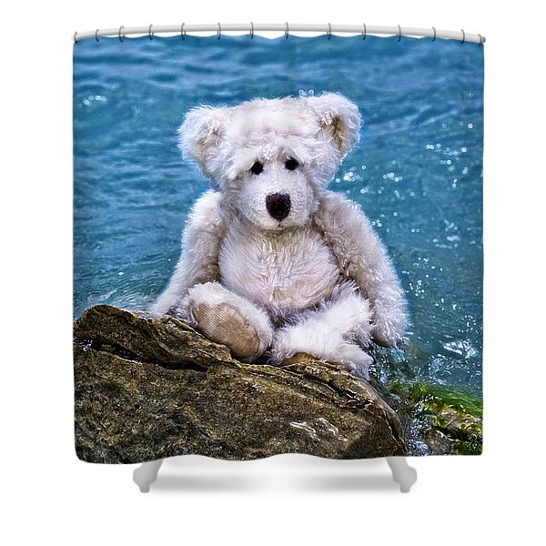 Beach Bum - Teddy Bear Art By William Patrick And Sharon Cummings Shower Curtain