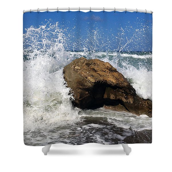 Beach Greece Shower Curtain