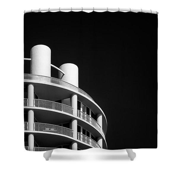 Beach Hotel Shower Curtain