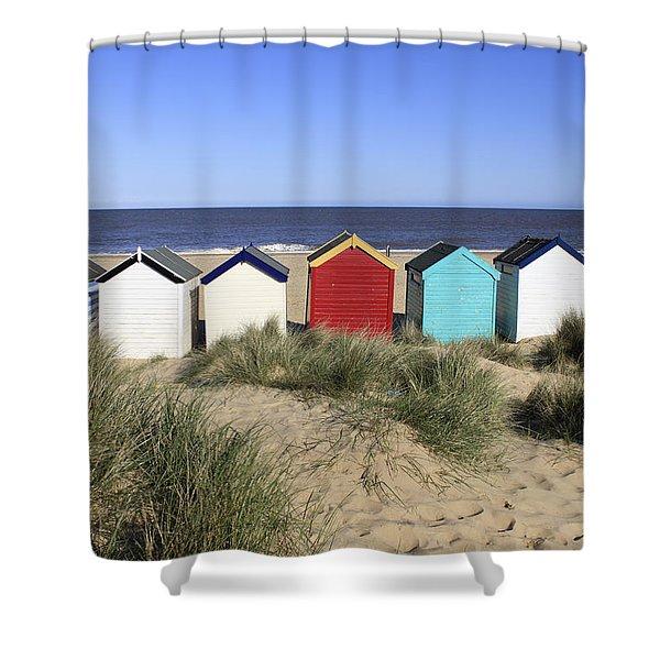 Southwold Beach Huts Uk Shower Curtain