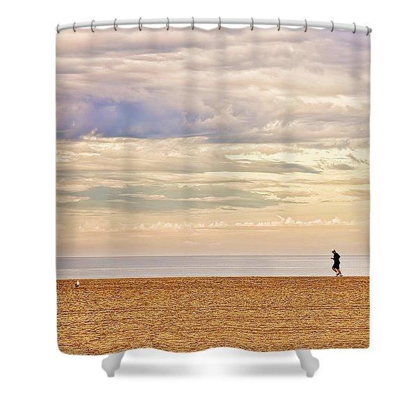 Beach Jogger Shower Curtain