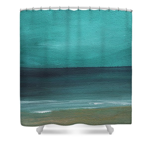Beach Morning- Abstract Landscape Shower Curtain
