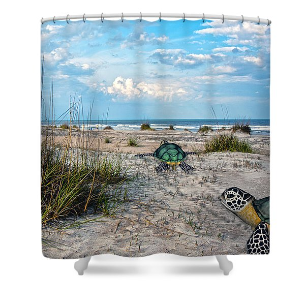 Beach Pals Shower Curtain