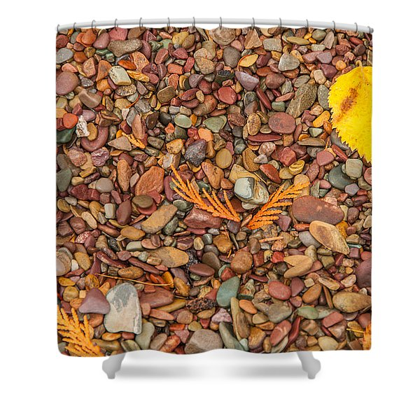 Beach Pebbles Of Montana Shower Curtain