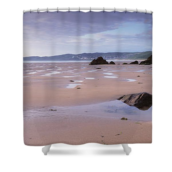 Beach, Putsborough, North Devon, Devon Shower Curtain