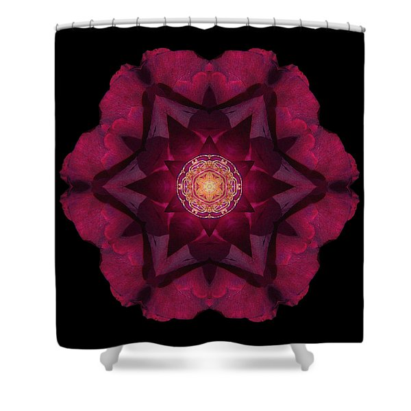 Beach Rose I Flower Mandala Shower Curtain