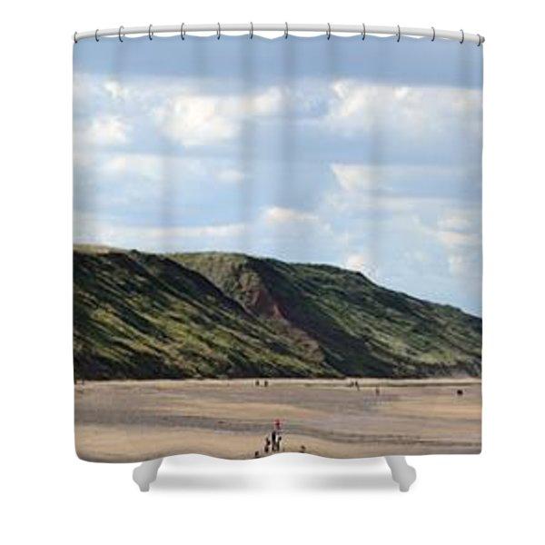 Shower Curtain featuring the photograph Beach - Saltburn Hills - Uk by Scott Lyons