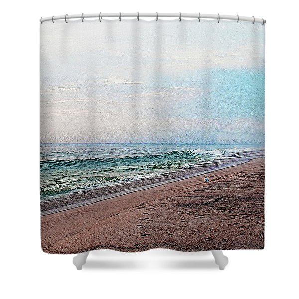 Beach Sentry Shower Curtain