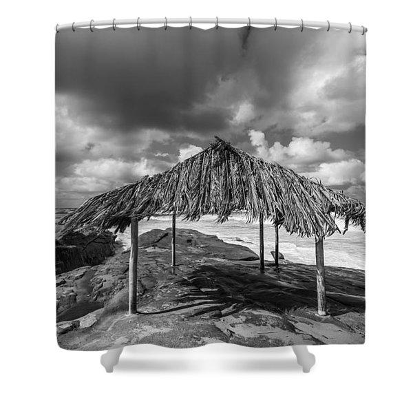Brilliant Beach Shack Shower Curtain