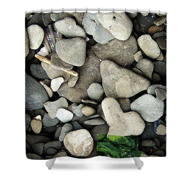 Beach Valentine Shower Curtain