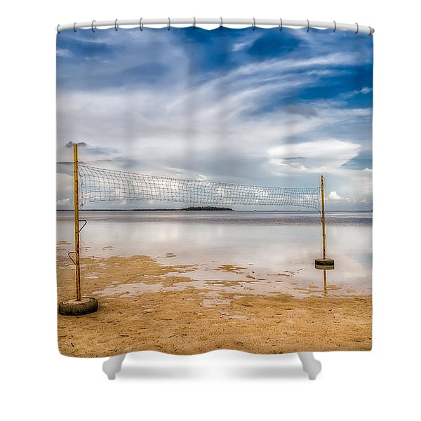 Beach Volleyball Shower Curtain